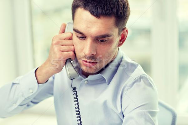 顔 ビジネスマン 呼び出し 電話 オフィス ビジネスの方々 ストックフォト © dolgachov