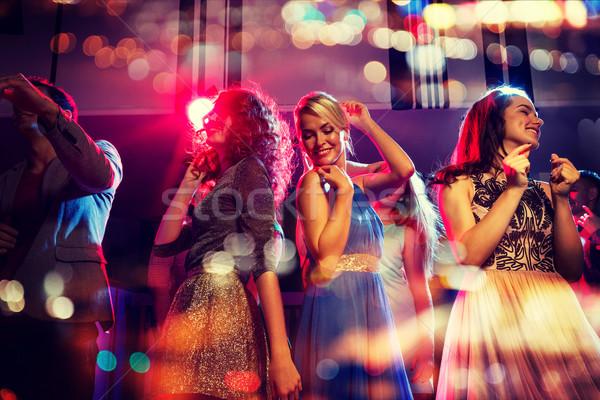 Stock fotó: Boldog · barátok · tánc · klub · ünnepek · fények