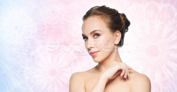 Belo mulher jovem cara branco beleza pessoas Foto stock © dolgachov