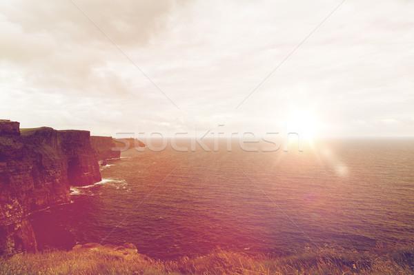 Okyanus İrlanda doğa manzara görmek Stok fotoğraf © dolgachov