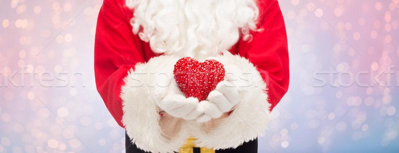 Сток-фото: Дед · Мороз · формы · сердца · Рождества · праздников · любви