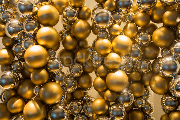 golden christmas decoration or garland of beads Stock photo © dolgachov