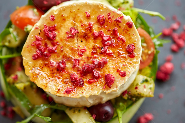 Queso de cabra ensalada hortalizas alimentos culinario Foto stock © dolgachov