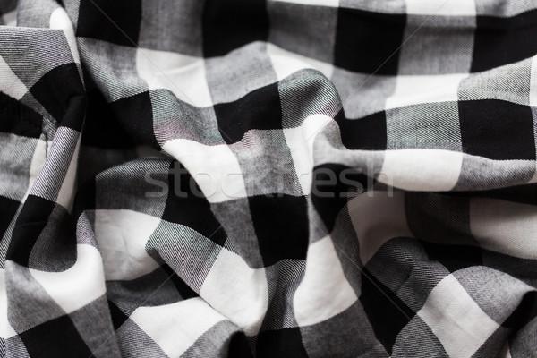 close up of checkered fabric or clothing item Stock photo © dolgachov