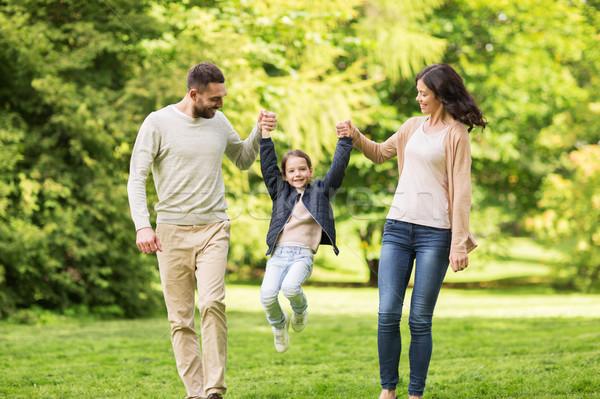 幸せな家族 徒歩 夏 公園 家族 ストックフォト © dolgachov