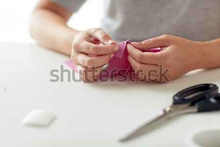 女性 針 ファブリック ピース 人 裁縫 ストックフォト © dolgachov