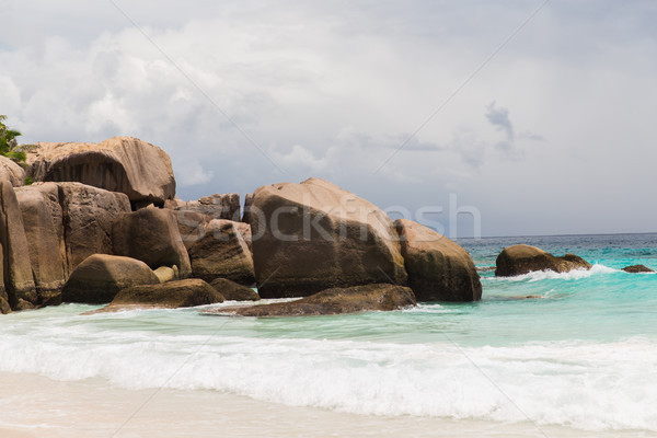 Isola spiaggia indian Ocean Seychelles viaggio Foto d'archivio © dolgachov