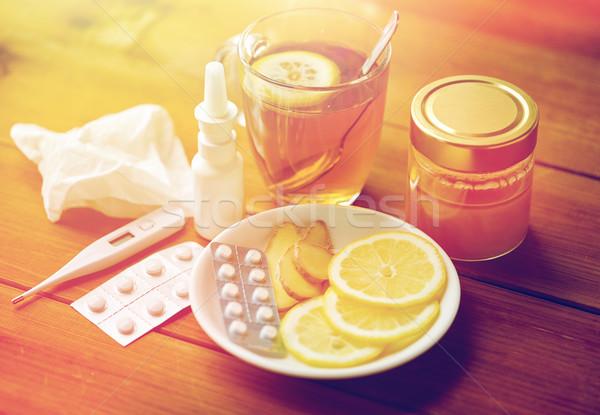 traditional medicine and drugs Stock photo © dolgachov
