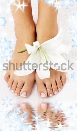 Longues jambes dame eau photos femme Photo stock © dolgachov