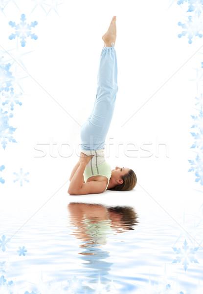 salamba sarvangasana supported shoulderstand Stock photo © dolgachov