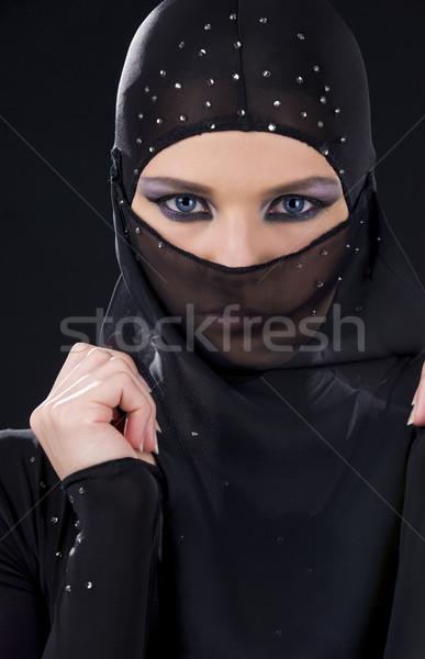 ninja face Stock photo © dolgachov