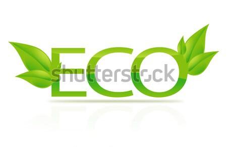 illustration of eco sign Stock photo © dolgachov