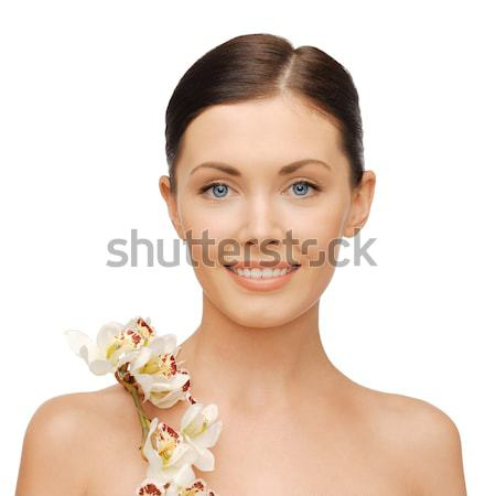 healthy woman holding bowl with sprout Stock photo © dolgachov