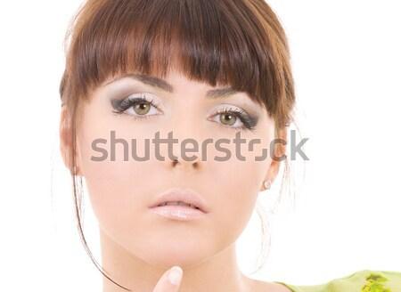 Belle femme cheveux longs santé beauté visage femme Photo stock © dolgachov