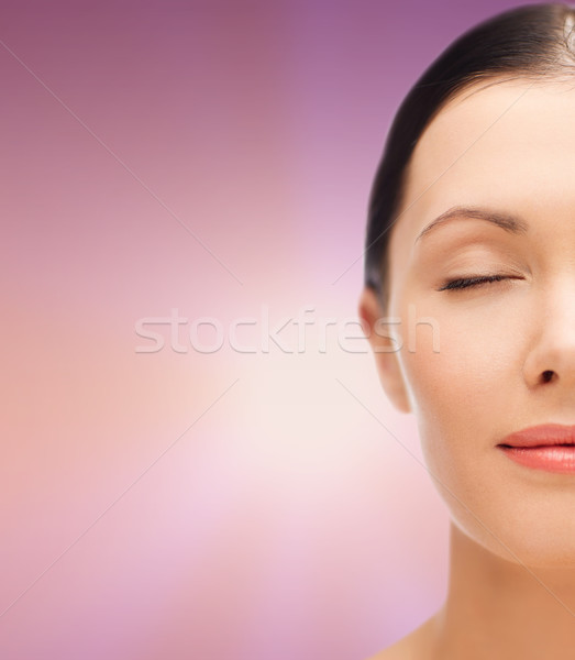 relaxed young woman with closed eyes Stock photo © dolgachov