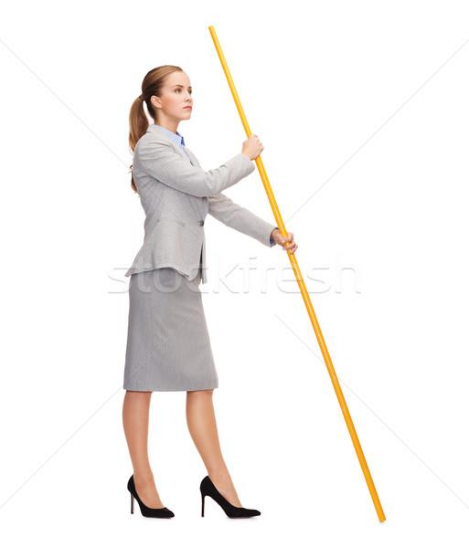 女性 旗竿 虚数 フラグ ストックフォト © dolgachov