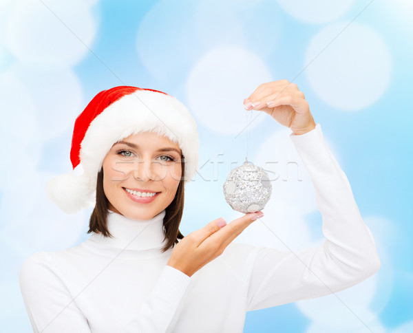 Mulher ajudante seis natal bola Foto stock © dolgachov