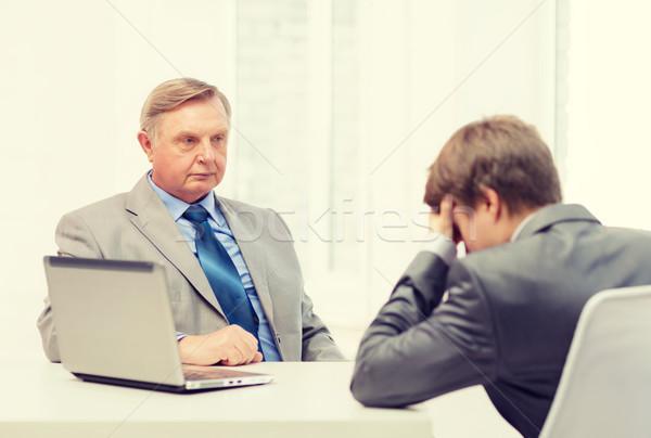 男 若い男 引数 オフィス ビジネス ストックフォト © dolgachov