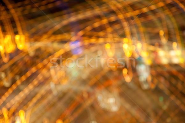 golden bright night lights background Stock photo © dolgachov