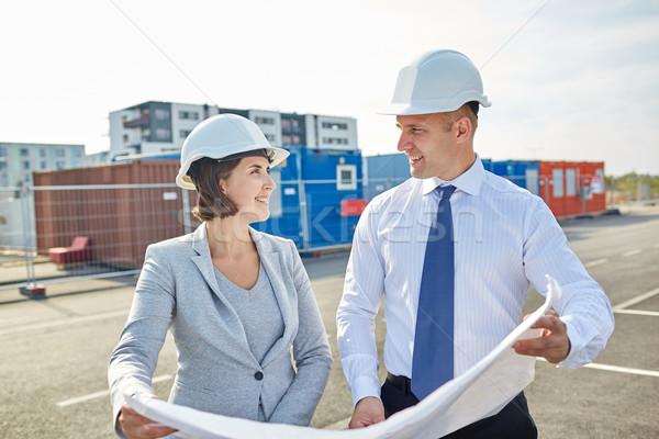 幸せ 青写真 建物 建設 アーキテクチャ ビジネス ストックフォト © dolgachov