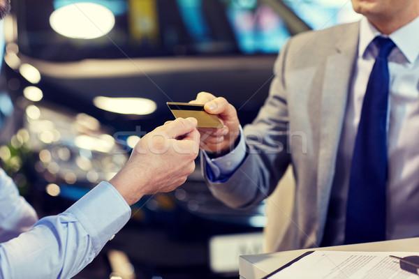 Client carte de crédit salon Auto affaires Photo stock © dolgachov