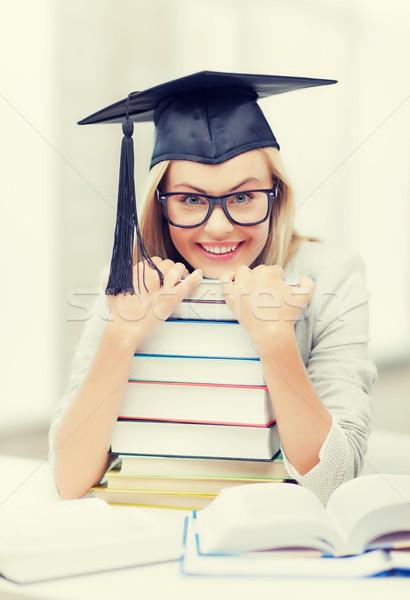 öğrenci mezuniyet kapak resim mutlu Stok fotoğraf © dolgachov
