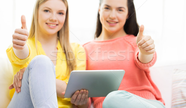 Stockfoto: Jonge · vrouwen · home · mensen · technologie
