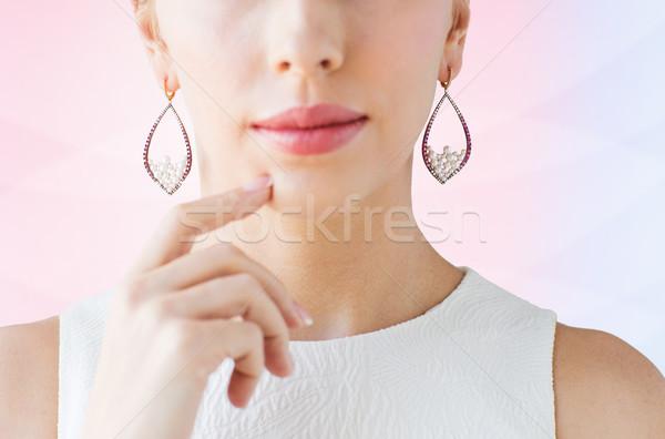 красивая женщина лице гламур красоту Сток-фото © dolgachov