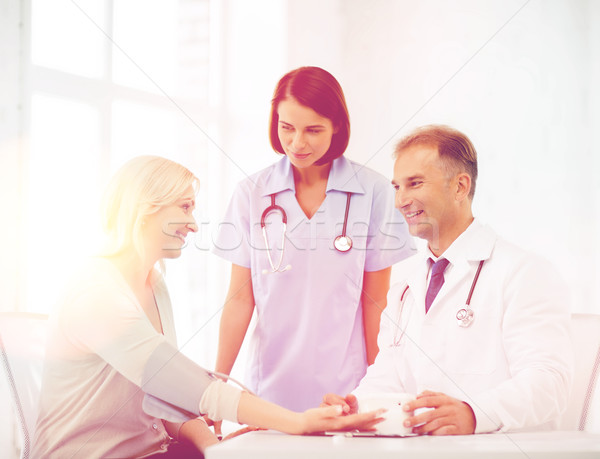 doctor and patient in hospital Stock photo © dolgachov