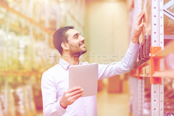 счастливым бизнесмен склад оптовая торговля бизнеса Сток-фото © dolgachov