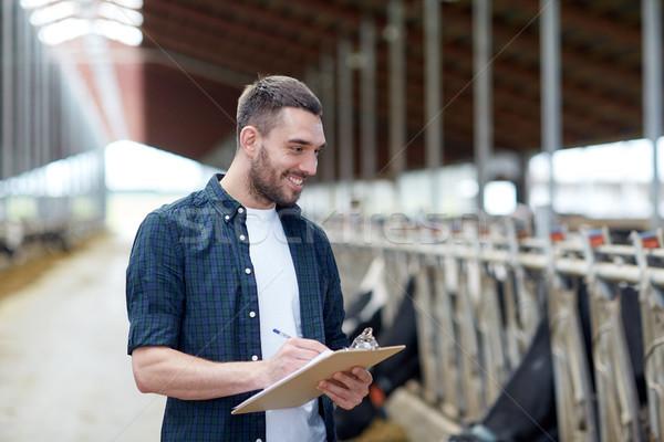 çiftçi inekler çiftlik tarım sanayi Stok fotoğraf © dolgachov