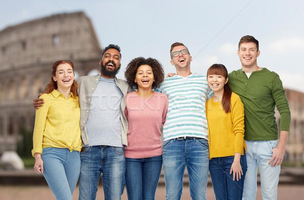 международных группа счастливые люди разнообразия путешествия туризма Сток-фото © dolgachov