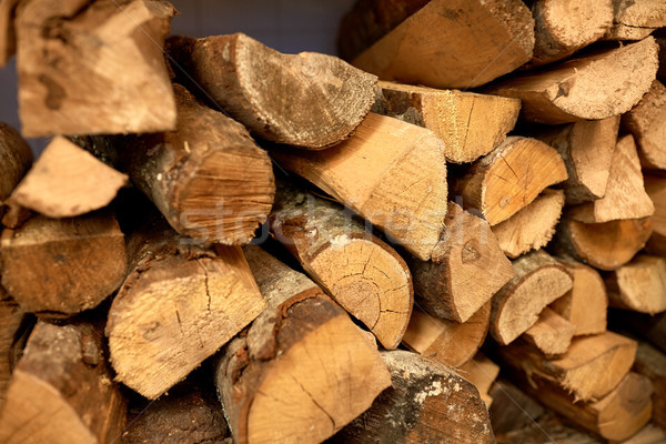close up of firewood Stock photo © dolgachov