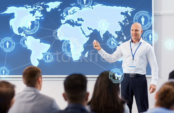 group of people at world business conference Stock photo © dolgachov