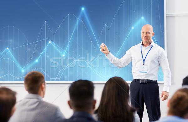 группа людей бизнеса конференции лекция статистика люди Сток-фото © dolgachov