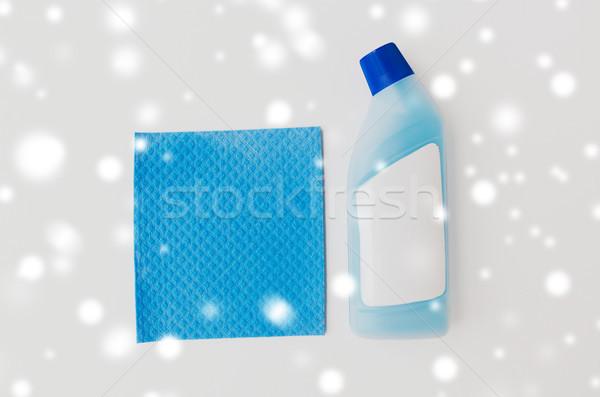 бутылку моющее средство синий белый очистки Сток-фото © dolgachov