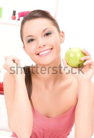 Сток-фото: гол · женщину · зеленый · яблоко · воды · Постоянный