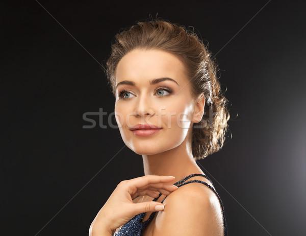 женщину вечернее платье красивая женщина свет фон Сток-фото © dolgachov