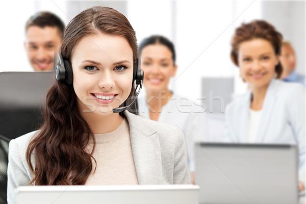 ヘルプライン 演算子 ヘッドホン コールセンター ビジネス 技術 ストックフォト © dolgachov