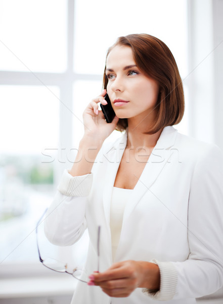 Confuso mulher negócio menina telefone Foto stock © dolgachov