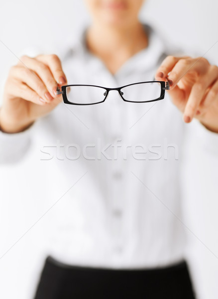 woman with eyeglasses Stock photo © dolgachov