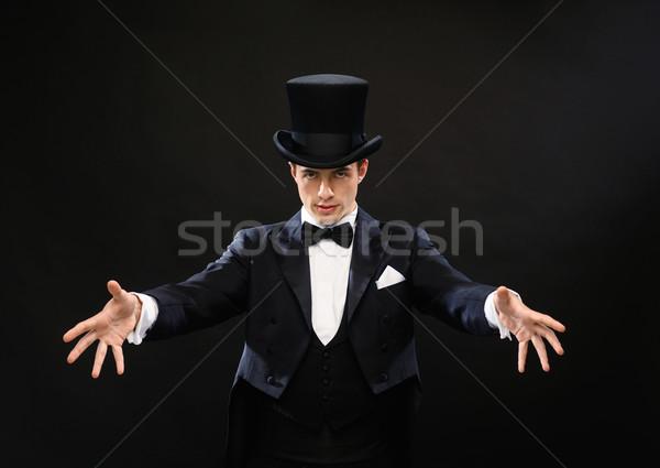 Mago superior sombrero truco magia Foto stock © dolgachov
