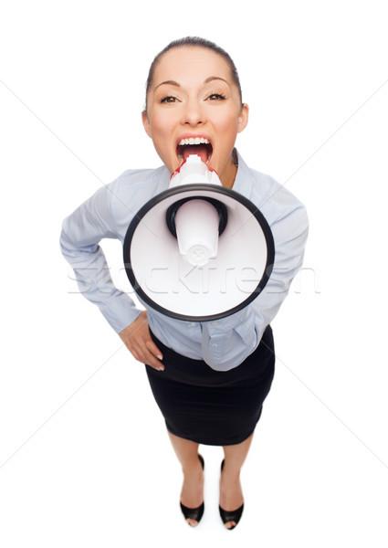 кричали деловая женщина мегафон бизнеса служба Новости Сток-фото © dolgachov