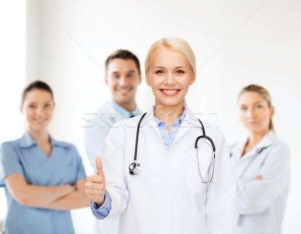 Gülen kadın doktor sağlık Stok fotoğraf © dolgachov