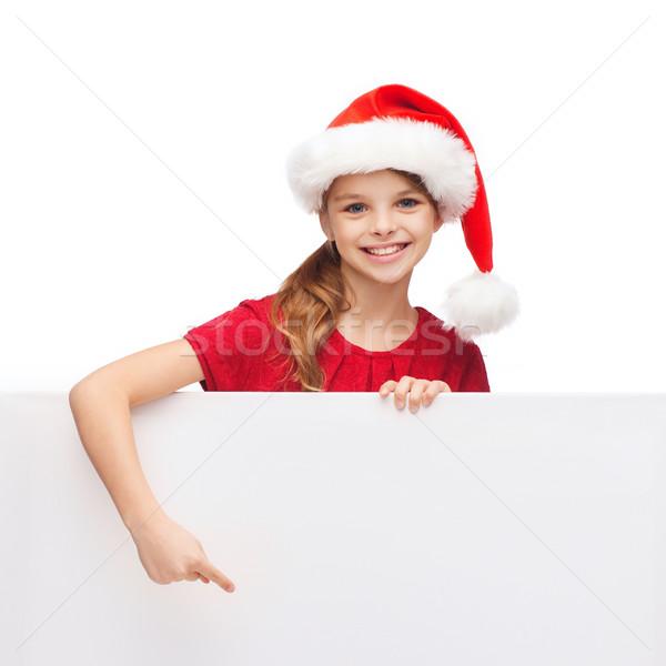 çocuk yardımcı şapka beyaz tahta Noel Stok fotoğraf © dolgachov