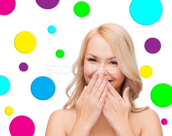 Belo mulher jovem pessoas beleza sorridente Foto stock © dolgachov