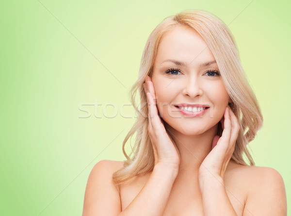 Stock photo: beautiful young woman face