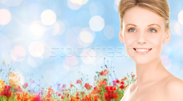 улыбающаяся женщина природного люди красоту Сток-фото © dolgachov