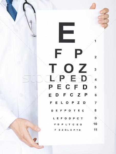 Erkek göz doktoru göz grafik sağlık tıp Stok fotoğraf © dolgachov