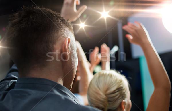 Pessoas felizes concerto boate festa férias Foto stock © dolgachov